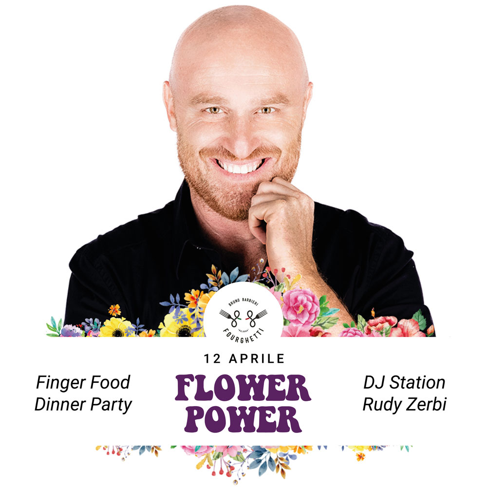 EVENTO FLOWER POWER CON RUDY ZERBI