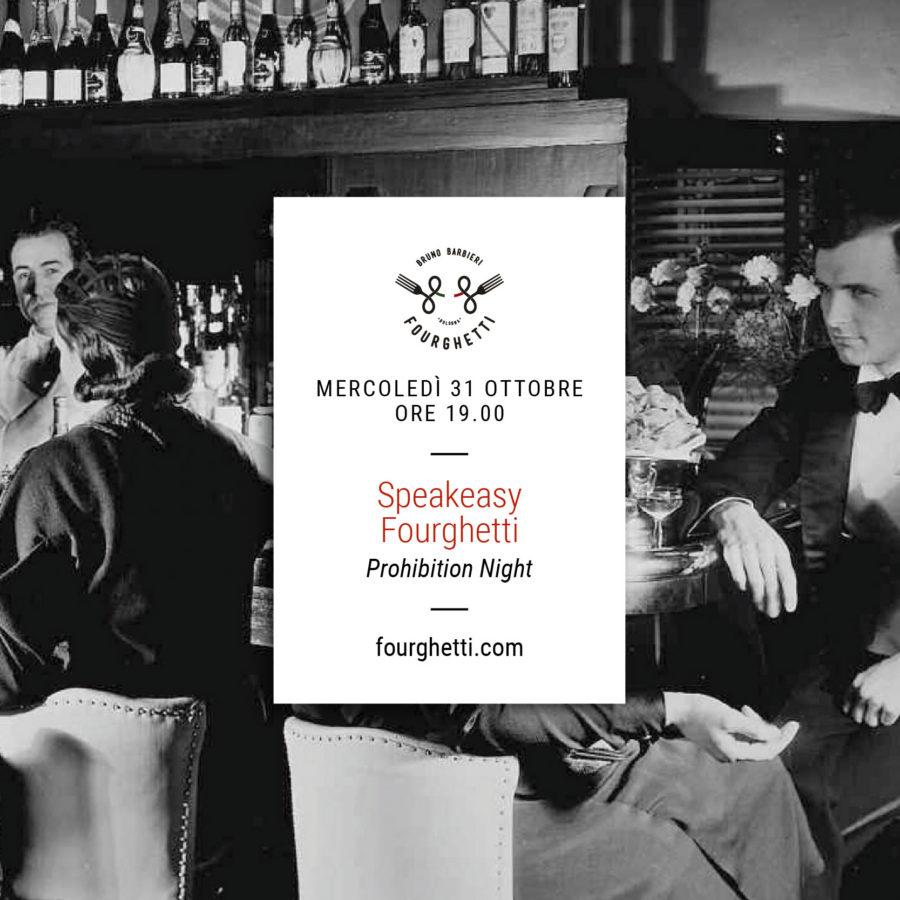 Speakeasy Fourghetti: prohibition night
