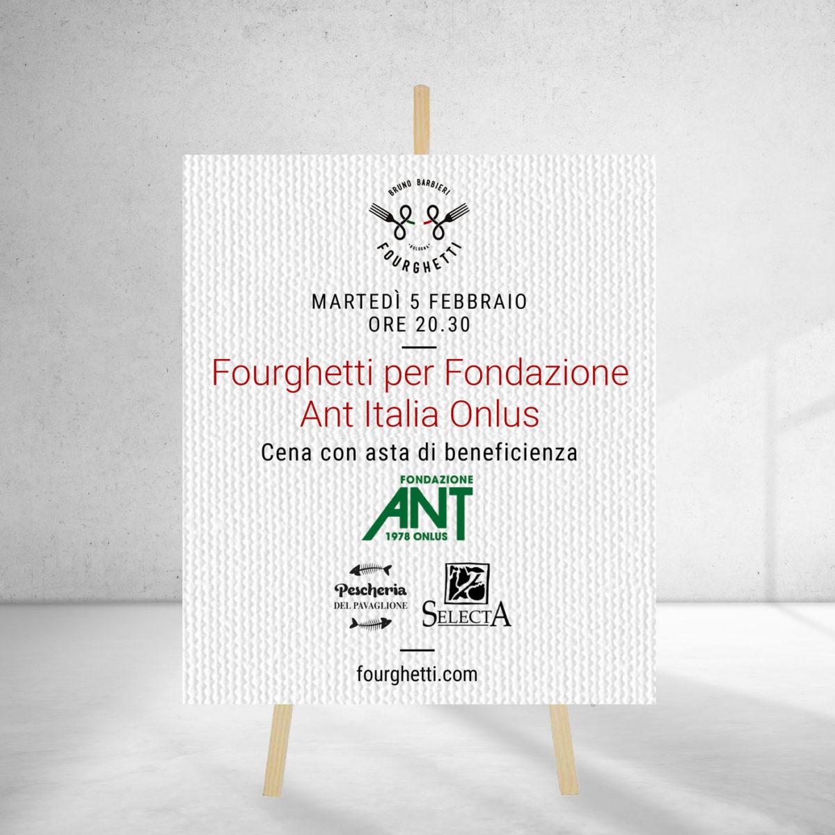 Fourghetti per Fondazione Ant: una cena con asta di beneficenza